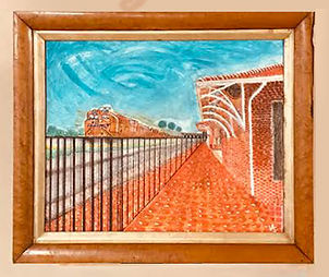 Train Depot Painting