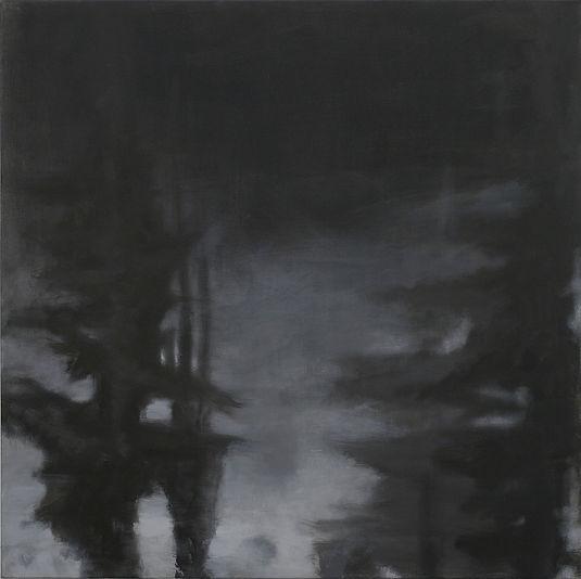 Fra serien  Landskap i mørke.  nr.3 (Træ
