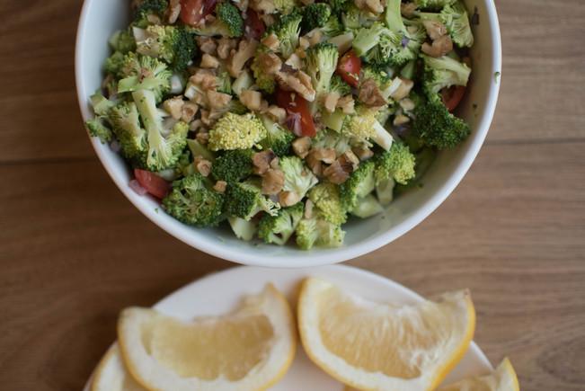 Brokolių salotos. Stebuklingos.