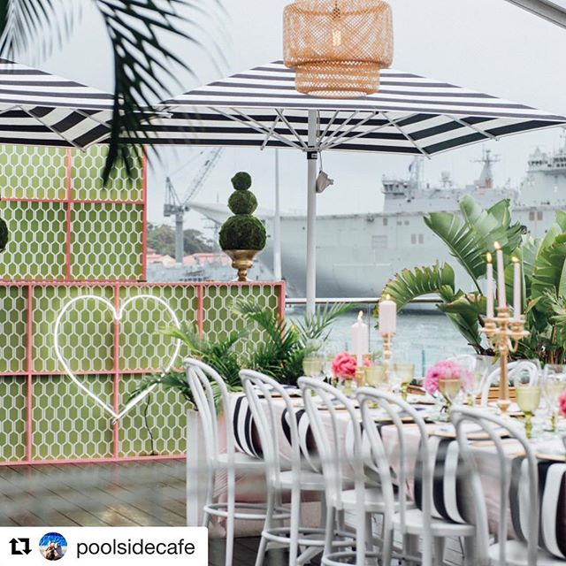 #Repost _poolsidecafe with _repostapp_・・・_Bringing Beverly Hills Hotel styling Poolside 🌴 Swipe acr
