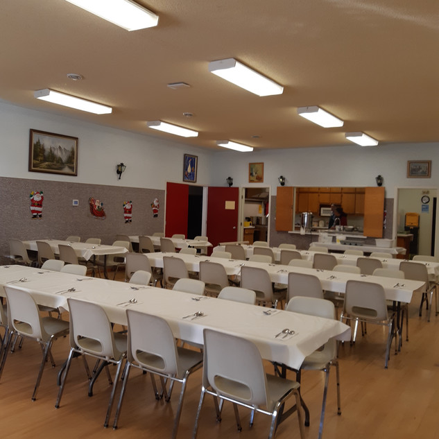 Set up for lunch - Cafeteria Room