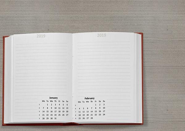 calendar-book-2019-date-january-february