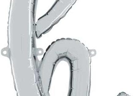 """34708SP - 24"""" Script Letter  """"h"""" Silver"""
