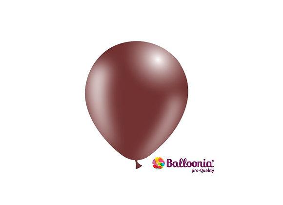 """5"""" Balloonia Chocolate 100ct"""