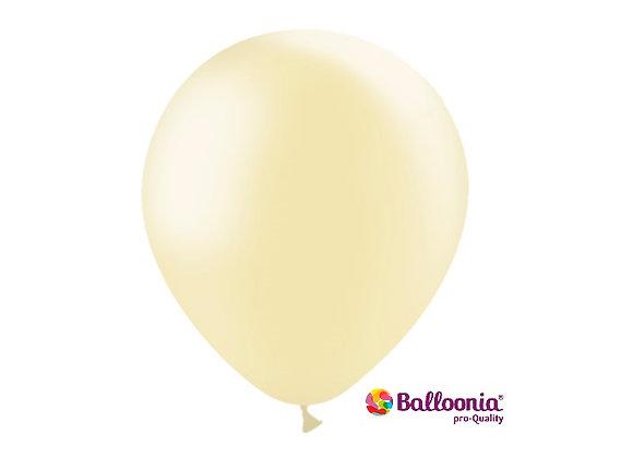 "12"" Balloonia Metallic Ivory 50ct"