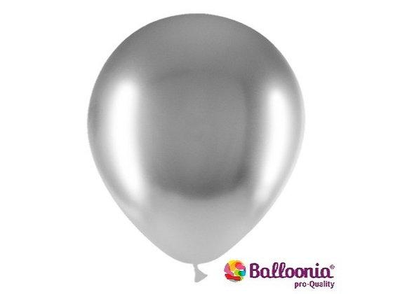 """12"""" Balloonia Brilliant Silver 50ct"""