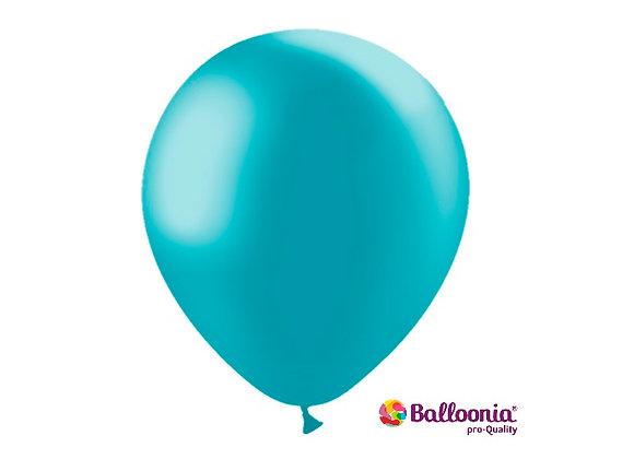 "12"" Balloonia Metallic Turquoise 50ct"