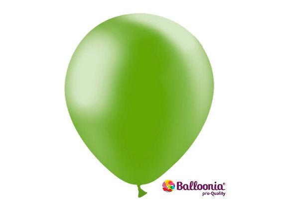 "12"" Balloonia Metallic Green 50ct"