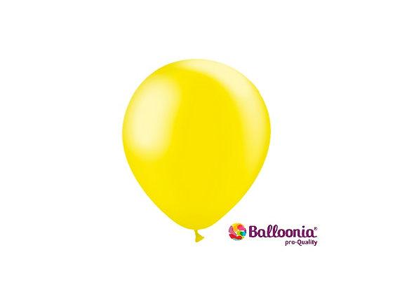 """5"""" Balloonia Metallic Lemon 100ct"""