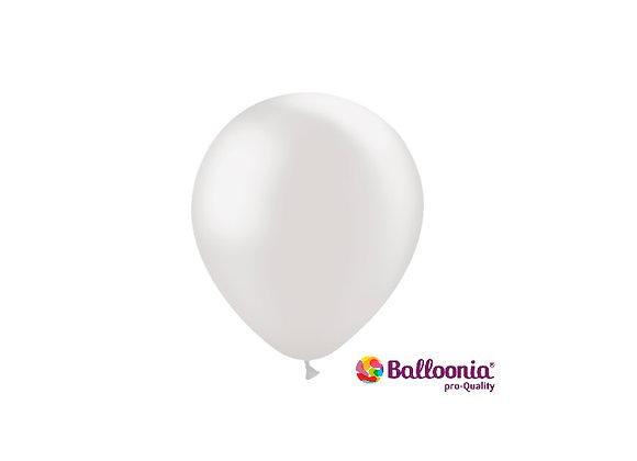 """5"""" Balloonia Metallic Pearl 100ct"""