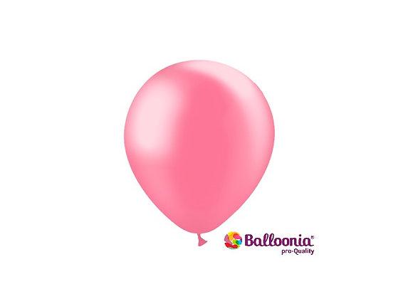 """5"""" Balloonia Metallic Pink 100ct"""