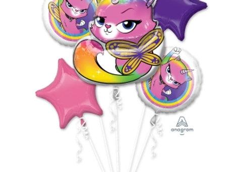 38542 - Rainbow Butterfly Unicorn Kitty Bouquet