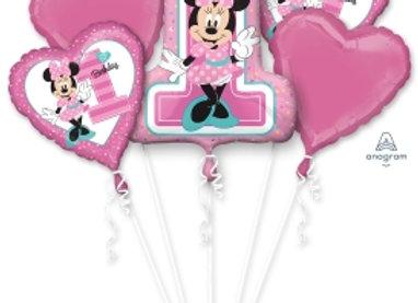 34379 - Minnie 1st Birthday Bouquet