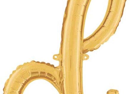 """34704GP - 24"""" Script Letter  """"d"""" Gold"""