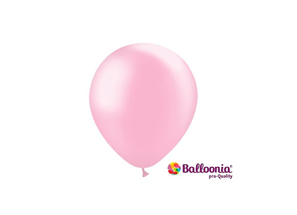 """5"""" Balloonia Metallic Baby Pink 100ct"""