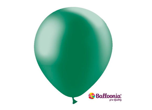 "12"" Balloonia Metallic Forest Green 50ct"