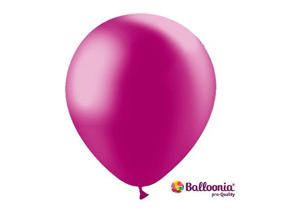"""12"""" Balloonia Metallic Fuchsia 50ct"""
