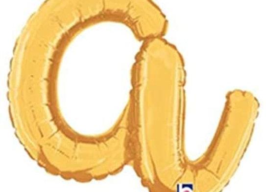 """34701GP - 14"""" Script Letter  """"a"""" Gold"""