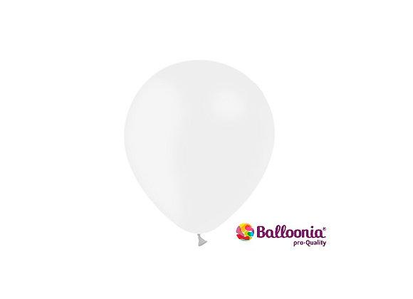 """5"""" Balloonia Metallic White 100ct"""