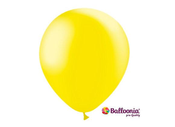 """12"""" Balloonia Metallic Lemon 50ct"""
