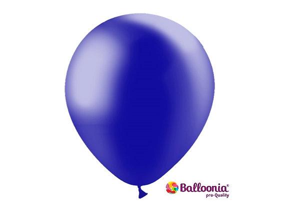 """12"""" Balloonia Metallic Navy 50ct"""