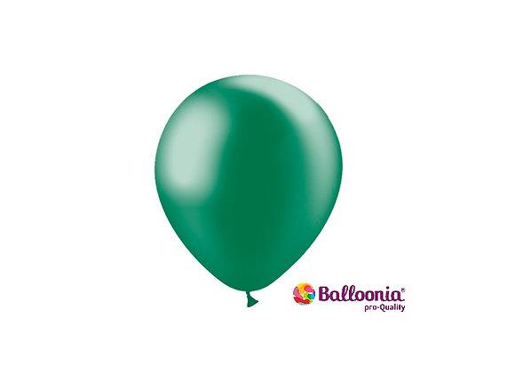 "5"" Balloonia Metallic Forest Green 100ct"
