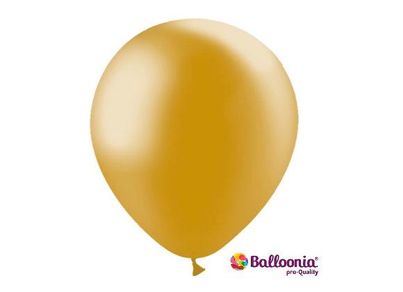 "12"" Balloonia Metallic Gold  50ct"