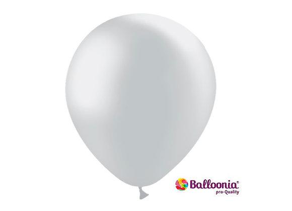 "12"" Balloonia Metallic Silver  50ct"