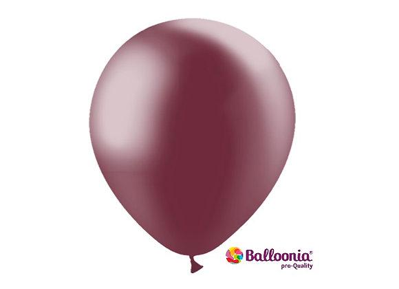 "12"" Balloonia Metallic Burgundy 50ct"