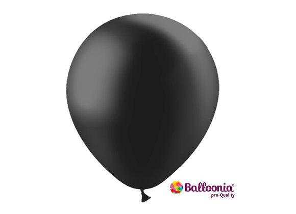 "12"" Balloonia Metallic Black  50ct"