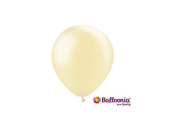 "5"" Balloonia Metallic Ivory 100ct"