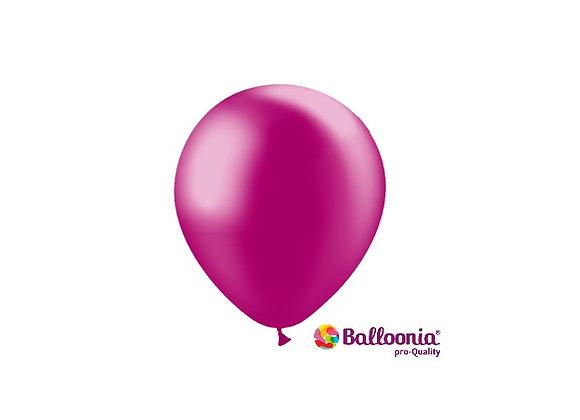 """5"""" Balloonia Metallic Fuchsia 100ct"""
