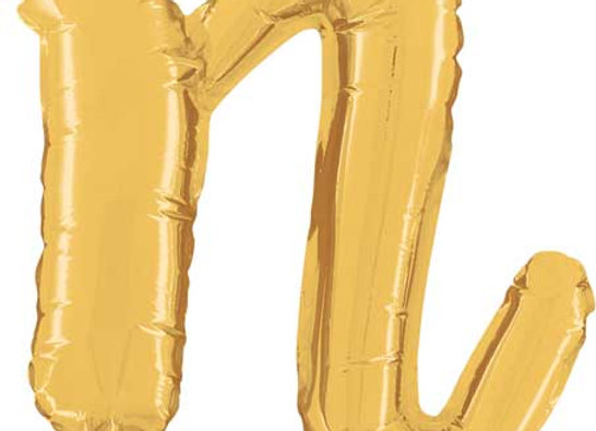 "34714GP - 14"" Script Letter  ""n"" Gold"