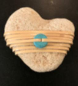 wrapped rocks white heart
