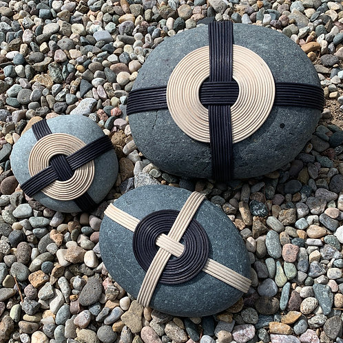 wrapped rocks outdoor large