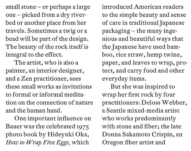 Page two article American Craft Council Magazine John Spayde Wrapture