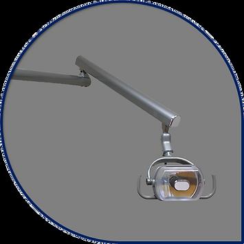 Curved Post Halogen Dental Light