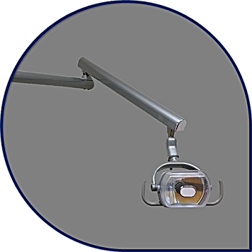 Curved Post Halogen Dental Light