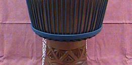 African mahogany wood Djembe