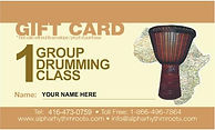 Drumming gift card