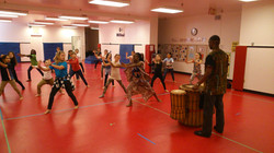 Dance workshop - Live drumming