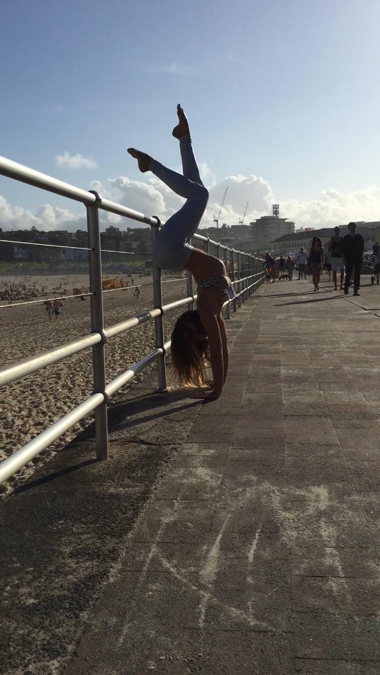 Maddie Sparkle Handstand