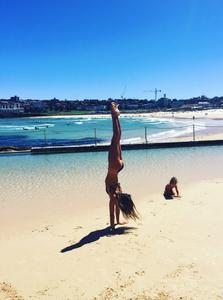 Handstands with Maddie Sparkle at Bondi Beach