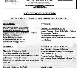LA DANTE A PADOVA - Notiziario III Quadrimestre 2017