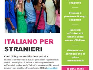 CORSI DI LINGUA ITALIANA PER STRANIERI E CERTIFICAZIONE PLIDA