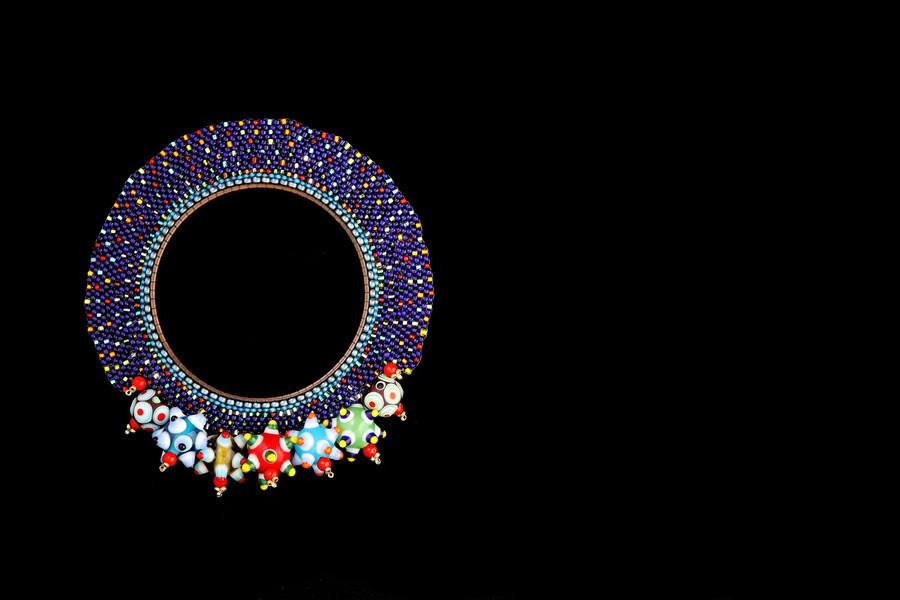 Blue Circle Murano Bead Brooch.jpg