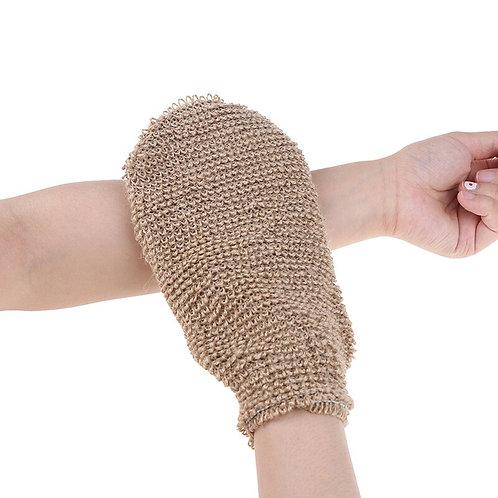 Fibre Bath Gloves Exfoliating Skin Wash Foam Towel Massage Back Shower Scrubber