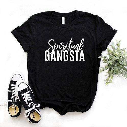 Spiritual Gangsta Print  Tshirts Cotton Casual  Tee Hipster 6 Color NA-733