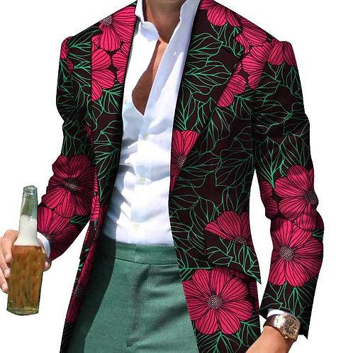 African Clothes Men Casual Blazer Dashiki  Jacket European Clothes  wedding