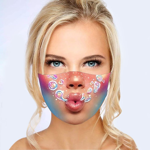 Funny Printed Face Masks Washable Fabric Polyester Cotton Mouth Mask